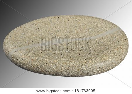 Empty ceramic soap-dish on background, top view