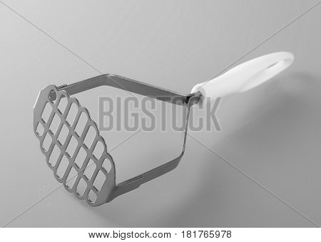 Close up of potato masher isolated on white background