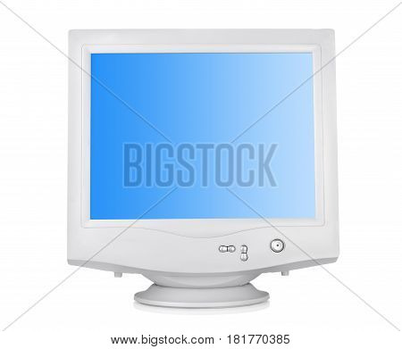 CRT monitor isolated on a white background. Clipping path