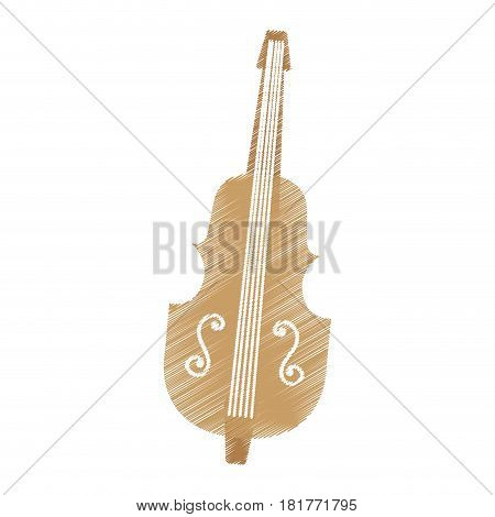 chello instrument isolated icon vector illustration design