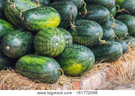 Watermelons In The Vietnamese Market