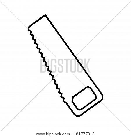 handsaw construction tool icon vector illustration design