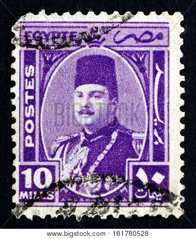 EGYPT - CIRCA 1934: a stamp printed in Egypt shows King Fuad Portrait circa 1934