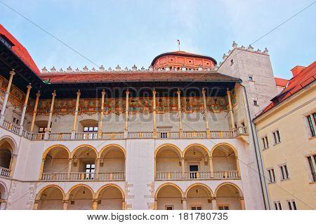 Inner Courtyard Of Wawel Castle