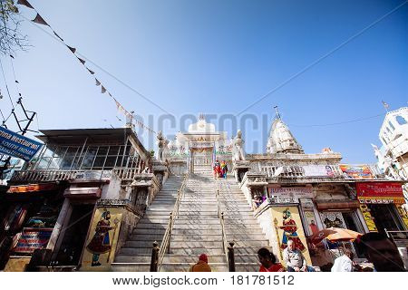 Udaipur, India - January 12:  Jagdish Temple On January 12, 2017 In Udaipur, India.