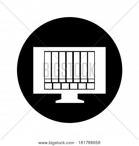 tv with bad signal icon vector illustration design