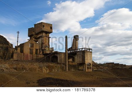 Abandoned And Ruined Sulfur Extraction Oven At Sao Domingos Mine