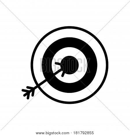 line icon arrow hitting a target, vector illustration