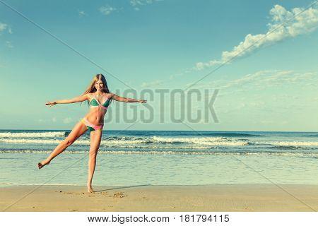Woman At Sea Beach