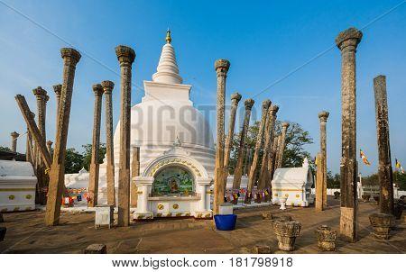 Thuparamaya dagoba , Anuradhapura, Sri Lanka. UNESCO world heritage site