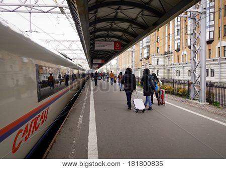 Railway In Saint Petersburg, Russia