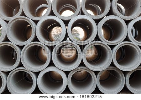 Trench mortar or Cement pipes for construction water system