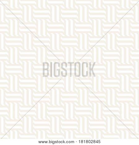 Vector Seamless Pattern. Modern Stylish Interlacing Lines Texture. Geometric Striped Ornament. Subtle Linear Braids