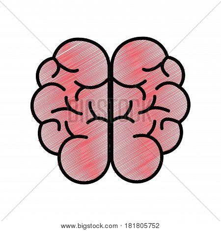 mental health smart brain icon, vector illustration design