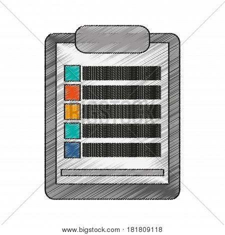 Document icon. Data archive office and information theme. Isolated design. Vector illustration