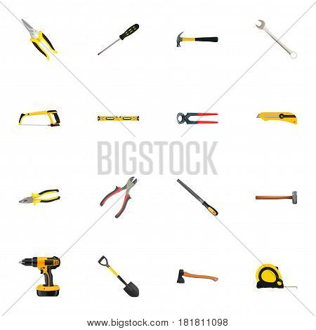 Realistic Maul, Utility Knife, Claw And Other Vector Elements. Set Of Kit Realistic Symbols Also Includes Axe, Arm, Pincers Objects.