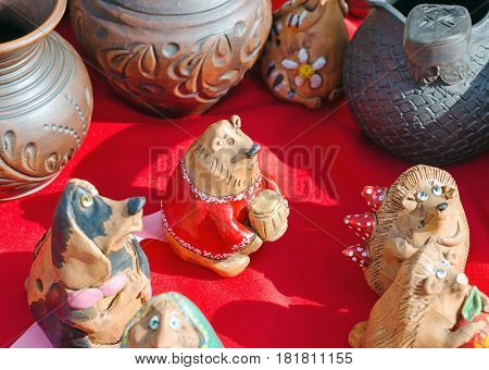 Animals Out Of Clay. Funny Animals Figures