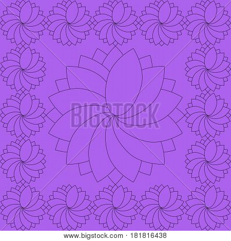 Abstract Seamless Background: Bewitching Purple Wheels