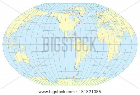 Map Of The World Winkel Tripel America