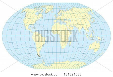 Map Of The World Winkel Tripel