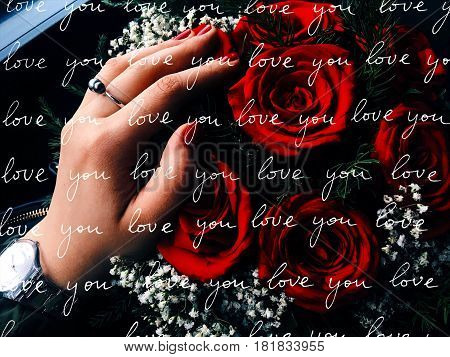 red roses and love. bouquet of roses, rose flower, roses background,