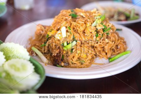 Stir fried rice noodles Thai called