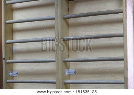 Wall bars close up
