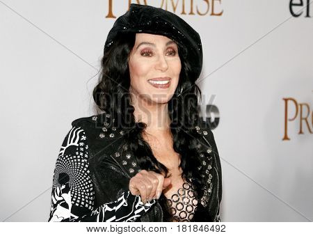 Cher at the Los Angeles premiere of 'The Promise' held at the TCL Chinese Theatre in Hollywood, USA on April 12, 2017.