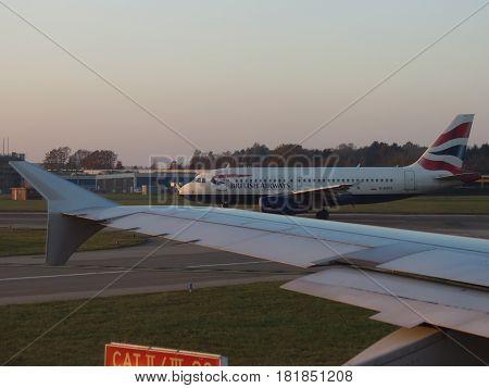 British Airways Airbus A319 Taxiing In Hamburg
