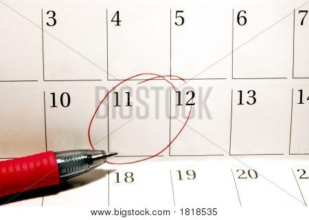 Circled Date On Calendar