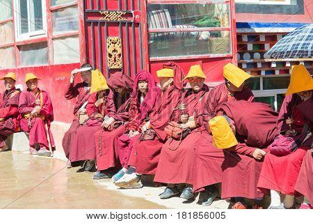 Sichuan, China - Sep 20 2014: Larung Gar(larung Five Sciences Buddhist Academy). A Famous Lamasery I