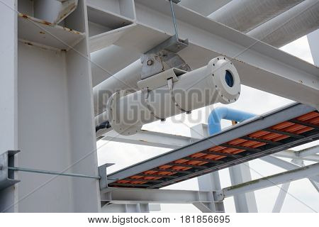 Explosion Proof Security Camera At A Jetty