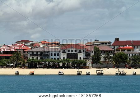 The  skyline of Stone Town in Zanzibar