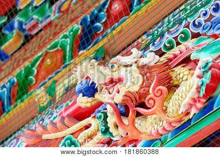 Huzhu, China - Jul 7 2014: Statue At Gonlung Champa Ling(youningsi). A Famous Monastery In Huzhu, Qi