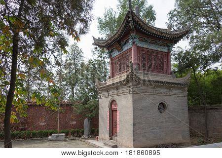 Xian, China - Nov 2 2014: Xingjiao Temple(unesco World Heritage Site). A Famous Temple In Xian, Shaa