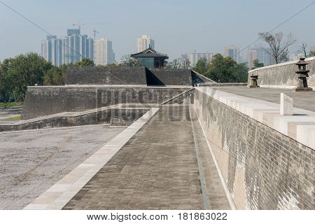 Xian, China - Oct 24 2014: Daming Palace National Heritage Park(unesco World Heritage Site). A Famou