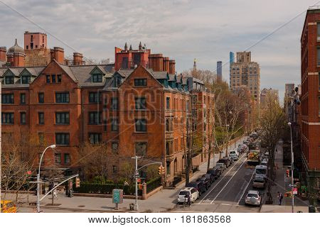 New York City--April 12, 2017--The Chelsea Section of New York, just below Midtown Manhattan.