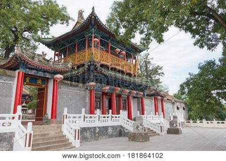 Shaanxi, China - Oct 13 2014: Jintai Temple. A Famous Temple In Baoji, Shaanxi, China.
