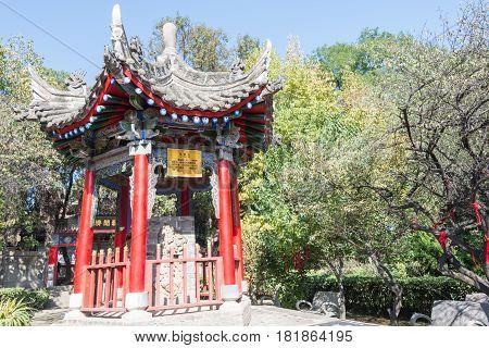 Shaanxi, China - Oct 21 2014: Wuzhangyuan Zhuge Liang Temple. A Famous Ancient Battle Field(april–au