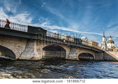Bridge  In St. Petersburg, Russia