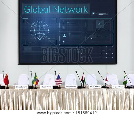 Global conference communication technology network connection