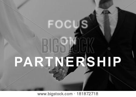 Partnership Business Relationship Unity Word
