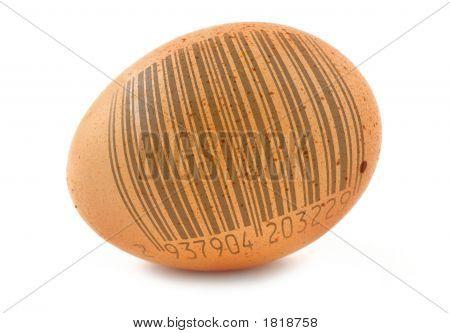 Free-Range Egg With Bar Code