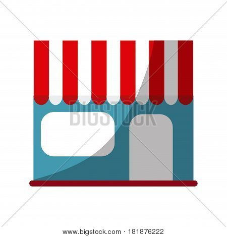 store icon over white background. colorful design. vector illustration