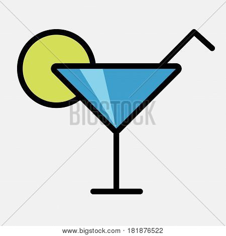 Cocktail Icon Isolated