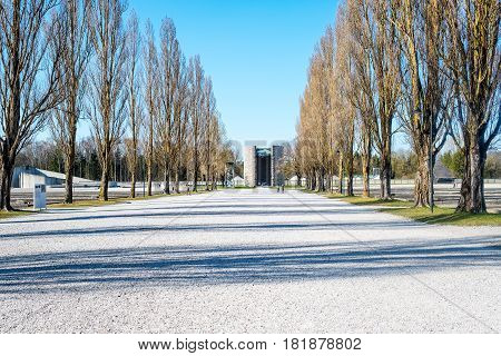 Catholic Memorial Monument In Memory Of The Catholics Killed In The Concentration Camp Of Dachau