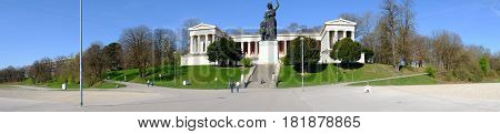Statue Of Bavaria Which Is The Female Allegorical Figure That Symbolizes Bavaria. Is Located On The