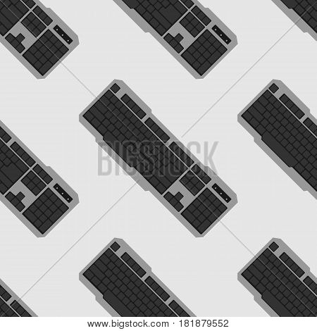 Vector seamless pattern from the keyboard PC