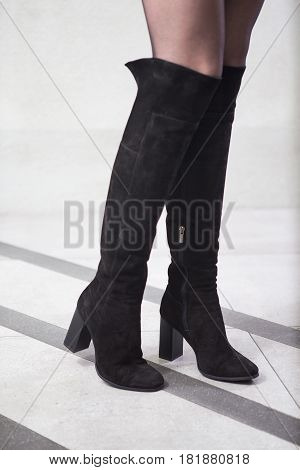 Girl In High Black Boots, . Lookbook, Women's High Leather Boots