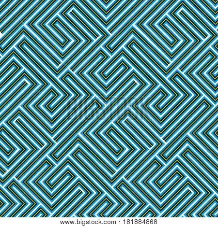 Vector seamless maze texture. Geometric wallpaper art